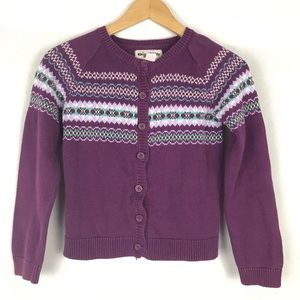 ❤️ 3/$20 OSHKOSH B'GOSH Purple Girl's Cardigan  8